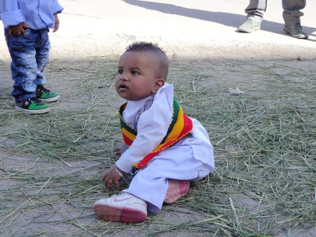 """Huuuuge cheeks (in Amharic """"gunch"""" - isn't that the perfect word for the cheeks of this little guy?!)"""